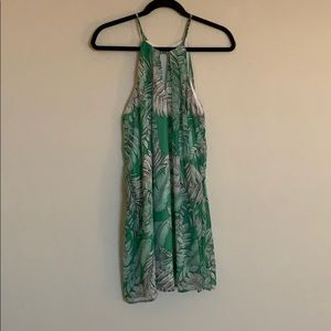 maitai Dresses - Green and White Tropical Shift Dress 👗